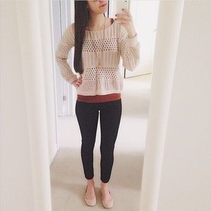 UO Pins & Needles crochet sweater